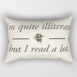 Salinger's The Catcher in the Rye - Literary quote art, bookish gift, modern home decor Rectangular Pillow