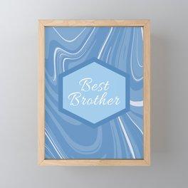 Best brother Framed Mini Art Print