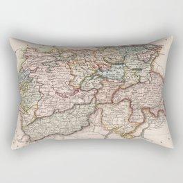 Vintage Map of Switzerland (1832) Rectangular Pillow