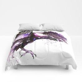 Flying raven Comforters