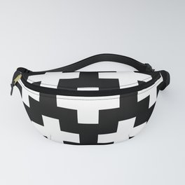 black-and-white pattern Yakshi Fanny Pack