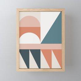 Cirque 03 Abstract Geometric Framed Mini Art Print