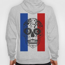 Mexican Skull With French Flag Hoody