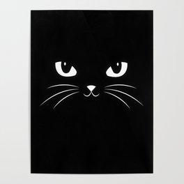 Cute Black Cat Poster