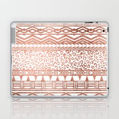 Modern rose gold leopard geometric aztec pattern Laptop & iPad Skin