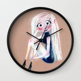 Pastel Girl Wall Clock