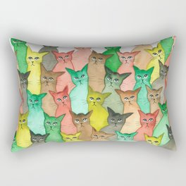 Toledo Many Whimsical Cats Rectangular Pillow