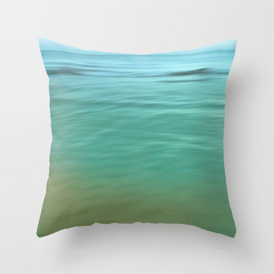 Smooth Wave  Throw Pillow