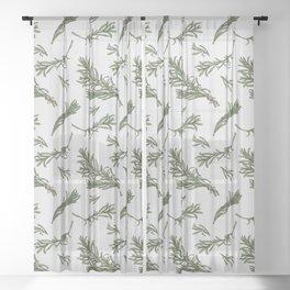Rosemary rustic pattern Sheer Curtain