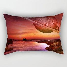Fractal planet Rectangular Pillow