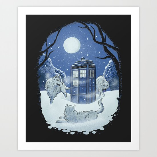It's always winter somewhere. Art Print