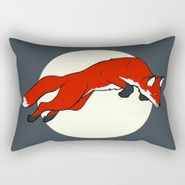 Night Fox Flies over the Moon Rectangular Pillow