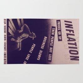 Vintage poster - Inflation Rug