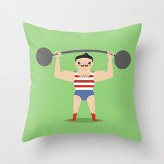 Little Strongman Throw Pillow