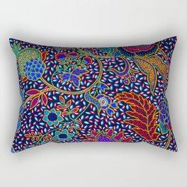 Tahitian Island Style Exotic Pattern Rectangular Pillow