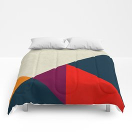 Geometric abstract Comforters