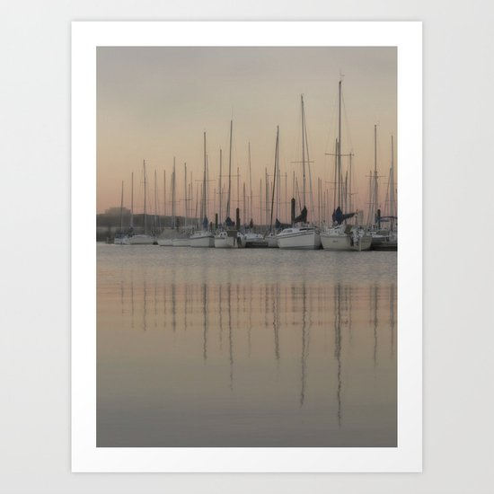 Reflection ~ at the dock Art Print