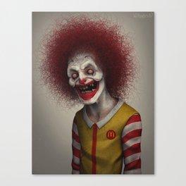 Ronald McDonald Canvas Print