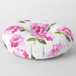 Pink Flower Floor Pillow