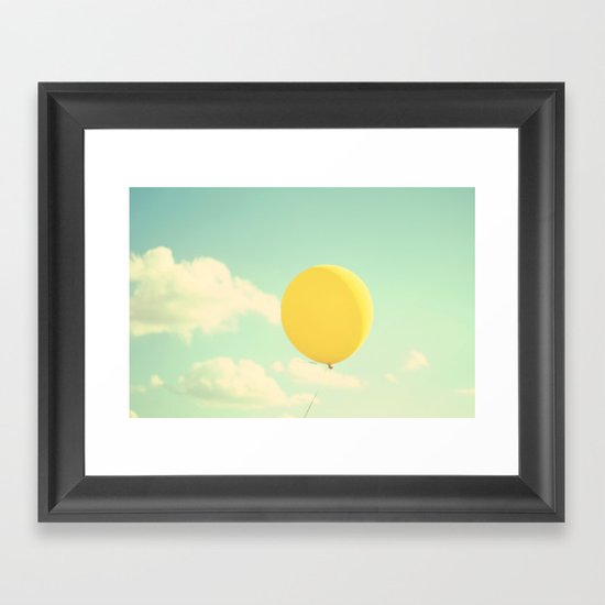 yellow balloon Framed Art Print
