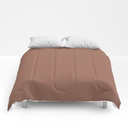 Dunn and Edwards 2019 Curated Colors Rosewood (Brown) DEC706 Solid Color Comforters