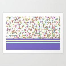 pastel dots with blue Art Print