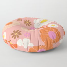 Groovy 60's Mod Flower Power Floor Pillow