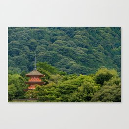Japanese forest temple Canvas Print