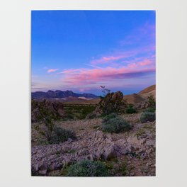 Sunset - Lake_Mead_National_Recreational_Area, Nevada Poster