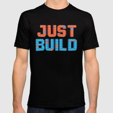 Just Build Mens Fitted Tee Black MEDIUM