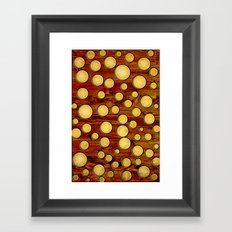 Wood and gold Framed Art Print