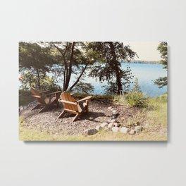 Front Row Seats at the Lake Metal Print