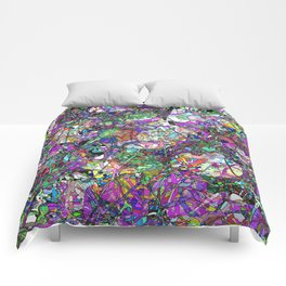 Colorful Lines Abstract Comforters