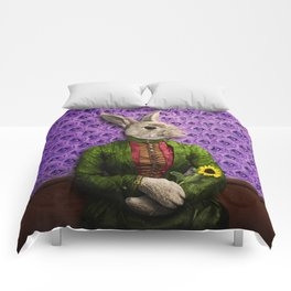 Miss Bunny Lapin in Repose Comforters