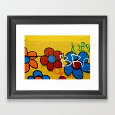 Brooklyn flowers Framed Art Print