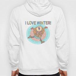 I Love Winter Girl Hoody