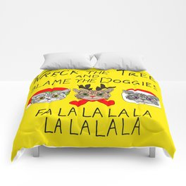 Holiday Cat Brats Comforters