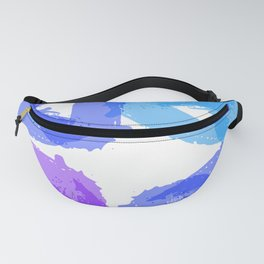 Blue square Fanny Pack