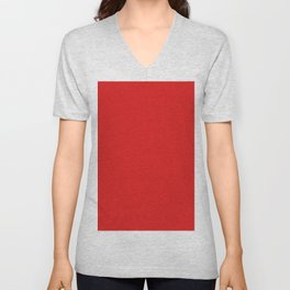 Red Saturated Pixel Dust Unisex V-Neck