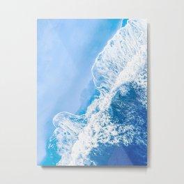 Little Blue Waves | Aerial Beach Metal Print
