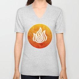 Avatar Fire Bending Element Symbol Unisex V-Neck