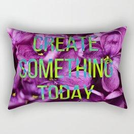 neon lilac blossom love Rectangular Pillow
