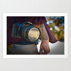 photo on the go Art Print