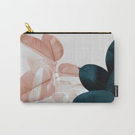 Blush & Blue Leaves Carry-All Pouch