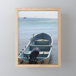 Let's jump into this boat and never look back Framed Mini Art Print