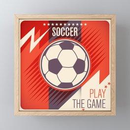 Soccer Ball Framed Mini Art Print