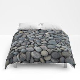 STONES - TEXTURE - COBBLE - WALKWAY Comforters