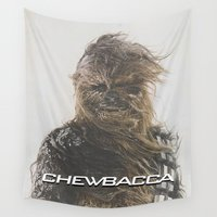 chewbacca Wall Tapestries featuring Fabulous Chewbacca / Star / Wars by Earl of Grey