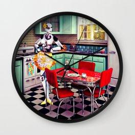 Robot Breakfast Wall Clock