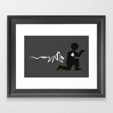 Doing the Moonwalk Backwards But Running. Framed Art Print